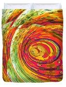 Fluorescent Wormhole Duvet Cover