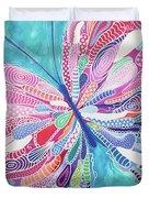 Fluttering Jewel Duvet Cover