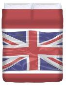 Fluttering Silk Union Jack Duvet Cover