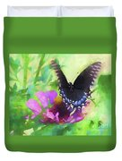 Fluttering Wings Of The Butterfly Duvet Cover