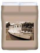 Fly Creek Work Boat Duvet Cover