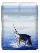 Fly Fishing For Sailfish Duvet Cover