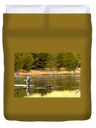 Fly Fishing On The Madison Duvet Cover