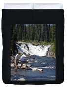 Fly Fishing The Lewis River Duvet Cover