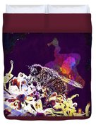 Fly Housefly Insect Close Macro  Duvet Cover