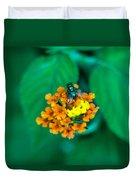 Fly On Flower Duvet Cover
