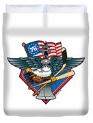 Fly. Philly, Fly, Crest Duvet Cover