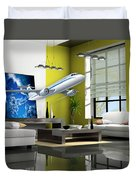 Fly The Friendly Skies Art Duvet Cover