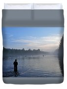 Flyfishing In Maine Duvet Cover
