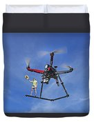 Flying A Drone Duvet Cover