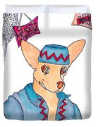 Flying Chihuahua's Duvet Cover