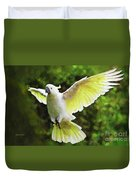 Flying Cockatoo  Duvet Cover