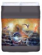 Flying Fishes Duvet Cover