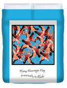 Flying Flamingos Duvet Cover