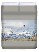 Flying High In Kandersteg, Switzerland Duvet Cover