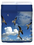 Flying High In The Clouds Duvet Cover