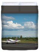 Flying In Alaska Duvet Cover