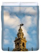 Flying Into The Clouds Duvet Cover
