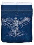Flying Machine 1889 - Blue Duvet Cover