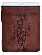 Flying Machine Patent Drawing  Duvet Cover