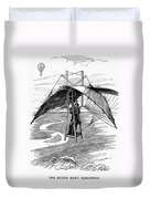 Flying Mans Parachute Duvet Cover