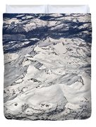 Flying Over Colorado Rocky Mountains Duvet Cover