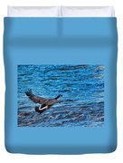 Flying Over Rough Waters Duvet Cover