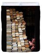 Flying Pigs And Books Duvet Cover