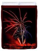 Flying Prom Fireworks Duvet Cover
