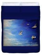 Flying Seagulls Duvet Cover
