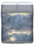 Flying Through Sun Rays 3 Duvet Cover