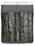 Flying Through The Trees Of The Forest Duvet Cover
