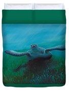Flying Turtle Duvet Cover