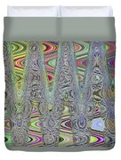 Foam On The Beach Abstract Duvet Cover