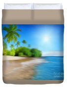 Focus On Palm Tree Duvet Cover