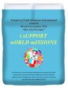 Fofmi Missions Tshirt Duvet Cover
