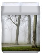 Fog Amongst The Trees Duvet Cover
