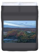 Fog And Fall Colors Duvet Cover