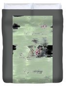 Fog And Flowers Duvet Cover