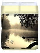 Fog And Light In Sepia Duvet Cover