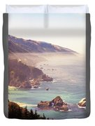 Fog Big Sur Duvet Cover
