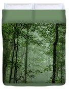 Fog In The Forest Duvet Cover