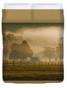 Fog In The Park Duvet Cover