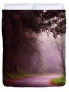 Fog In The Redwoods Duvet Cover