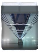 Fog - Millennium Bridge Duvet Cover