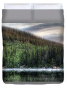 Fog On Bear Lake Duvet Cover