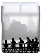 Fog On The Hudson Duvet Cover