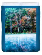 Fog On The Lake Duvet Cover