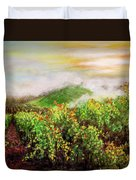 Fog On The Vines Duvet Cover