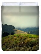 Fog Over The Lagoon Duvet Cover